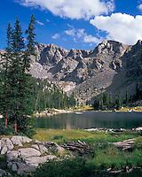 Nolan Lake in the Holy Cross Wilderness area, Colorado