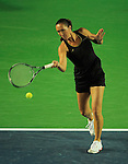 HONG KONG - JANUARY 07:  Jelena Jankovic of Serbia in action during her match with Michelle Larcher de Brito of Portugal against Venus Williams and Coco Vndeweghe of United States on day one of the World Team Challenge 2009 tournament held at Victoria Park January 7, 2009 in Hong Kong, China.   Photo by Victor Fraile / The Power of Sport Images
