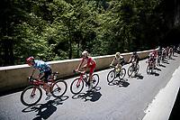 polka dot jersey / KOM leader Matthew Holmes (GBR/Lotto Soudal) up the Col de Porte<br /> <br /> 73rd Critérium du Dauphiné 2021 (2.UWT)<br /> Stage 6 from Loriol-sur-Drome to Le Sappey-en-Chartreuse (167km)<br /> <br /> ©kramon