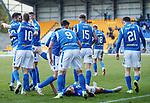 St Johnstone v Hamilton Accies…26.10.19   McDiarmid Park   SPFL<br />Callum Hendry celebrates scoring saints third goal<br />Picture by Graeme Hart.<br />Copyright Perthshire Picture Agency<br />Tel: 01738 623350  Mobile: 07990 594431