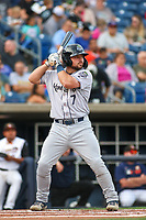 Kane County Cougars Buddy Kennedy (7) at bat during a Midwest League game against the Quad Cities River Bandits on August 24, 2019 at Modern Woodmen Park in Davenport, Iowa.  Quad Cities defeated defeated Kane County 8-2.  (Travis Berg/Four Seam Images)