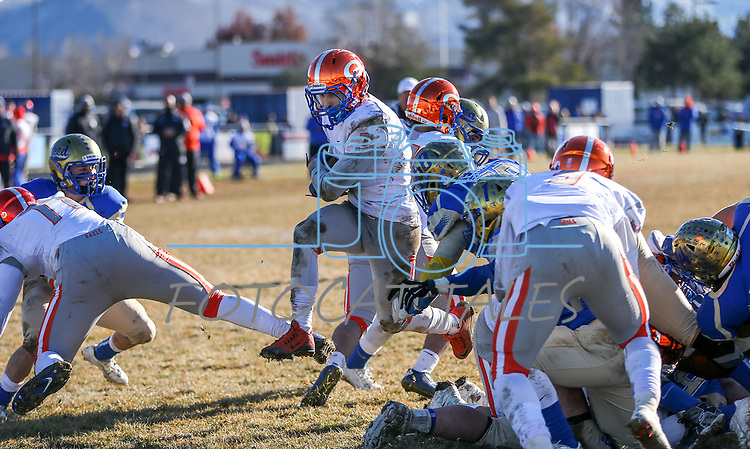 Bishop Gorman's Biaggio Ali Walsh (7) rushes for a touchdown against Reed in an NIAA Division I playoff game at Reed High School in Sparks, Nev., on Saturday, Nov. 28, 2015. Bishop Gorman won 41-13. (Cathleen Allison/Las Vegas Review-Journal)