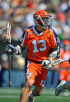 23 August 2008: Philadelphia Barrage Attackman Jed Prossner in action against the Rochester Rattlers during the Semi-Finals of the Major League Lacrosse Championship Weekend at Harvard Stadium in Boston, MA. The Rattlers defeated the Barrage 16-15 in sudden death overtime, advancing to the upcoming Championship Game...Mandatory Photo Credit: Ed Wolfstein Photo