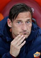 Calcio, Serie A: Roma, stadio Olimpico, 1 aprile, 2017.<br /> Roma's Francesco Totti waits for the start of the Italian Serie A football match between Roma and Empoli at Olimpico stadium, April 1, 2017<br /> UPDATE IMAGES PRESS/Isabella Bonotto