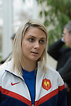 Nathalie Amiel of France at the official launch of the RBS Six Nations rugby tournament at the Hurlingham Club in London..
