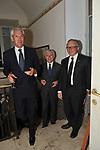 MARCO TRONCHETTI PROVERA, MAURIZIO BELPIETRO E  PAOLO PELUFFO<br /> PREMIO GUIDO CARLI - SECONDA EDIZIONE<br /> RICEVIMENTO A CASINA VALADIER ROMA 2011
