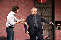 Arthur FENWICK, Alain DOUTEY - Filage de la piece 'CONFIDENCES' de Jody Pietro - 28 aout 2017 - Theatre Rive Gauche, Paris, France