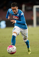 Calcio, Serie A: Napoli vs Juventus. Napoli, stadio San Paolo, 26 settembre 2015. <br /> Napoli's Jose' Maria Callejon in action during the Italian Serie A football match between Napoli and Juventus at Naple's San Paolo stadium, 26 September 2015.<br /> UPDATE IMAGES PRESS/Isabella Bonotto<br /> <br /> *** ITALY AND GERMANY OUT ***