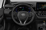 Car pictures of steering wheel view of a 2019 Toyota Corolla-Touring-Sports Hybrid-Style 5 Door Wagon Steering Wheel