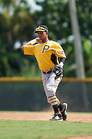 Pittsburgh Pirates Adrian Valerio (90) during an instructional league intrasquad black and gold game on September 23, 2015 at Pirate City in Bradenton, Florida.  (Mike Janes/Four Seam Images)