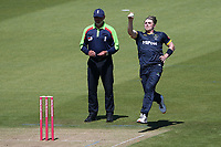 Dan Douthwaite in bowling action for Glamorgan during Glamorgan vs Essex Eagles, Vitality Blast T20 Cricket at the Sophia Gardens Cardiff on 13th June 2021