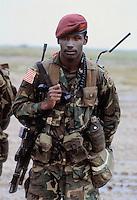 - USA paratroopers at cape Teulada (Sardinia) for a NATO exercise....- paracadutisti USA a Capo Teulada (Sardegna) per una esercitazione NATO
