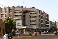 BURKINA FASO, Ouagadougou, Avenue Kwame Nkrumah, Splendid Hotel, wurde im Januar 2016 von Islamisten attackiert