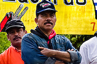 Daniel Ortega, the leader of Sandinistas (the FSLN), watches people during the pre-election meeting in San Juan del Sur, Nicaragua, 16 October 2004. The Sandinista National Liberation Front (in Spanish: Frente Sandinista de Liberación Nacional, or FSLN) is a socialist political party in Nicaragua. The FSLN is one of Nicaragua's two leading parties. Sandinistas took their name from Augusto César Sandino (1895-1934), the historical leader of Nicaragua's nationalist rebellion against the US occupation of the country in the 1930s. In 1979 the FSLN overthrew the Somoza dynasty and ruled Nicaragua from 1979 to 1990. They left power in 1990 after free elections. In 2006, the former President Daniel Ortega, the leader of the party, was re-elected President of Nicaragua.