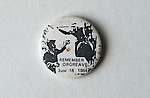 Orgreave Yorkshire Miners strike Remember Orgreave June 18 1984 pin button badge. 1980s UK.