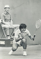 1974 FILE PHOTO - ARCHIVES -<br /> <br /> How could I miss? Mexico's No. 1 player;<br />  Joaquin Loyo-Mayo <br /> gives an agonized look during his game yesterday with rejean Genois of Quebec city in Rothmans Canadian Open tennis championships at Toronto Lawn Tennis Club. Loyo-Mayo; however won easily; 6-2; 6-0. Canadians had their best start in years as three; including Toronto's Jane O'Hara; advanced to the second round of tournament.<br /> <br /> PHOTO : Reg INNELL - Toronto Star Archives - AQP