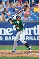 Lynchburg Hillcats shortstop Yu-Cheng Chang (6) at bat during a game against the Wilmington Blue Rocks on June 3, 2016 at Judy Johnson Field at Daniel S. Frawley Stadium in Wilmington, Delaware.  Lynchburg defeated Wilmington 16-11 in ten innings.  (Mike Janes/Four Seam Images)