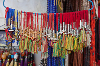 Bodhnath, Nepal.  Multi-colored Tassels.
