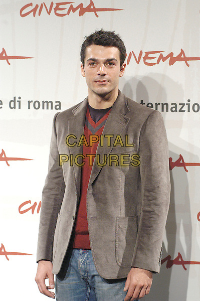 "LUCA ARGENTERO.attends a photocall to promote the movie ""A Casa Nostra"" on the eighth day of Rome Film Festival (Festa Internazionale di Roma) in Rome, Italy, October 20th 2006..half length .Ref: CAV.www.capitalpictures.com.sales@capitalpictures.com.©Luca Cavallari/Capital Pictures."