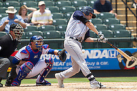 Colorado Springs Sky Sox first baseman Ben Paulsen (10) swings the bat against the Round Rock Express in the Pacific Coast League baseball game on May 19, 2013 at the Dell Diamond in Round Rock, Texas. Colorado Springs defeated Round Rock 3-1 in 10 innings. (Andrew Woolley/Four Seam Images).