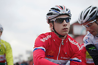 Lars van der Haar (NLD) focused pré-race<br /> <br /> UCI Worldcup Heusden-Zolder Limburg 2013