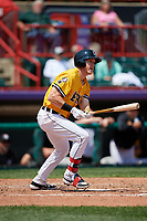 Erie SeaWolves Josh Lester (17) at bat during an Eastern League game against the Altoona Curve and on June 4, 2019 at UPMC Park in Erie, Pennsylvania.  Altoona defeated Erie 3-0.  (Mike Janes/Four Seam Images)