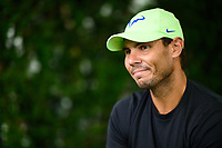 WASHINGTON, DC - AUGUST 1: Rafael Nadal (ESP) speaks with press on Media Day ahead of the 2021 Citi Open at Rock Creek Park Tennis Center on August 1, 2021 in Washington, DC.