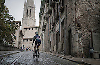 The Old Town streets of Girona / Spain