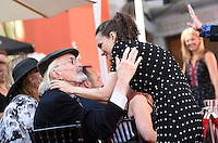 Winona Ryder + Martin Landau @ hand and foot prints ceremony held @ the TCL Chinese theatre. September 8, 2016