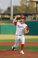 Stockton Ports pitcher Casey Meisner (20) on the mound during a game against the Visalia Rawhide at Banner Island Ballpark on August 15, 2015 in Stockton, California. Visalia defeated Stockton 9-1. (Robert Gurganus/Four Seam Images)
