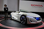"""December 30, 2011, Tokyo, Japan - Honda Motor Co.'s """"AC-X"""" concept car is displayed at the 42nd Tokyo Motor Show. The show opens to the general public from December 3-11. (Photo by Christopher Jue/AFLO)"""
