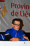 Nicolas Roche (IRL) at the AG2R La Mondiale press conference in the Country Hall, Liege, Belgium before the 2012 Tour de France, Liege, Belgium. 28th June 2012.<br /> (Photo by Eoin Clarke/NEWSFILE)