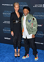 "LOS ANGELES, USA. December 17, 2019: Spike Lee & Tonya Lewis Lee at the world premiere of ""Star Wars: The Rise of Skywalker"" at the El Capitan Theatre.<br /> Picture: Paul Smith/Featureflash"