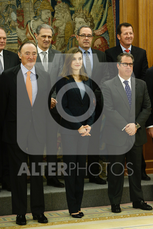Queen Letizia attends patronato of Fundacion Linea Directa and the jury of experts that grant the Journalistic award of road safety at Zarzuela palace in Madrid, Spain. March 16 2017. (ALTERPHOTOS/Rodrigo Jimenez)