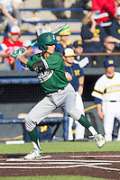 Eastern Michigan Hurons second baseman David Lett (25) at bat against the Michigan Wolverines on May 3, 2016 at Ray Fisher Stadium in Ann Arbor, Michigan. Michigan defeated Eastern Michigan 12-4. (Andrew Woolley/Four Seam Images)