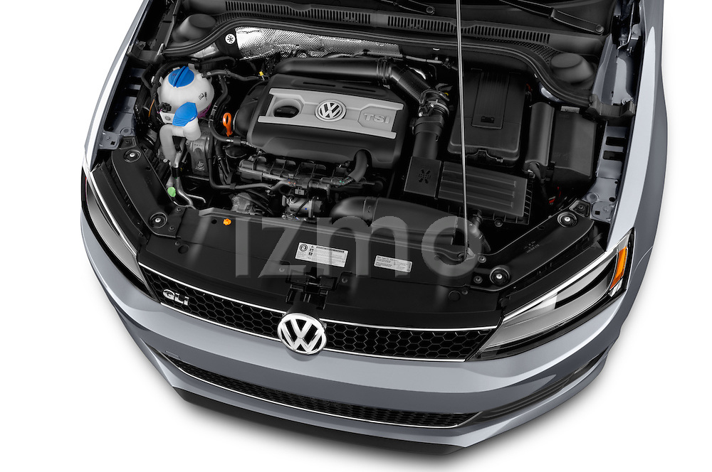 High angle engine detail of a  2013 Volkswagen Jetta GLI Sedan2013 Volkswagen Jetta GLI Sedan