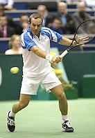 23-2-06, Netherlands, tennis, Rotterdam, ABNAMROWTT, Olivier Rochus in acton against David Ferrer