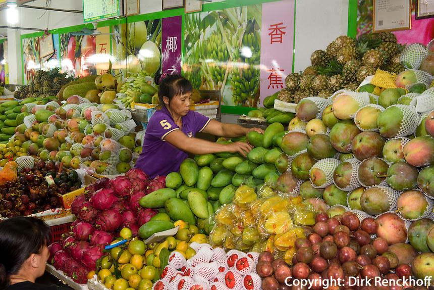 Markt Nr. 3 in Sanya auf der Insel Hainan, China<br /> Market no 3  in Sanya,  Hainan island, China