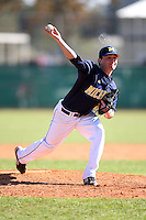 February 28, 2010:  Pitcher Tyler Burgoon (24) of the Michigan Wolverines during the Big East/Big 10 Challenge at Raymond Naimoli Complex in St. Petersburg, FL.  Photo By Mike Janes/Four Seam Images