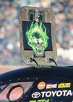Oct. 28 2011; Las Vegas, NV, USA: NHRA funny car driver Alexis DeJoria during qualifying for the Big O Tires Nationals at The Strip at Las Vegas Motor Speedway. Mandatory Credit: Mark J. Rebilas-