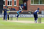 Pix: Shaun Flannery/shaunflanneryphotography.com...COPYRIGHT PICTURE>>SHAUN FLANNERY>01302-570814>>07778315553>>..19th May 2013..Derbyshire Unicorns v Yorkshire Vikings..Yorkshire Bank 40 National League Cricket Match..Yorkshire's Richard Pyrah bowls to Unicorns G Park.