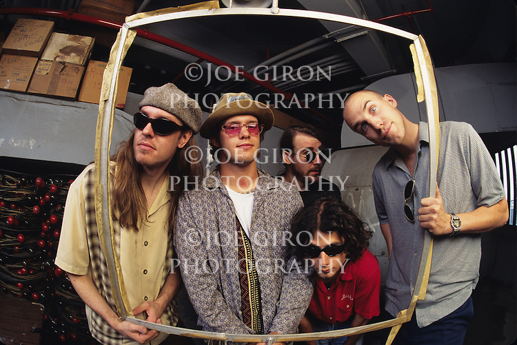 Blind Melon pose for a portrait session.