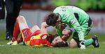 Danny Devine with a sore head