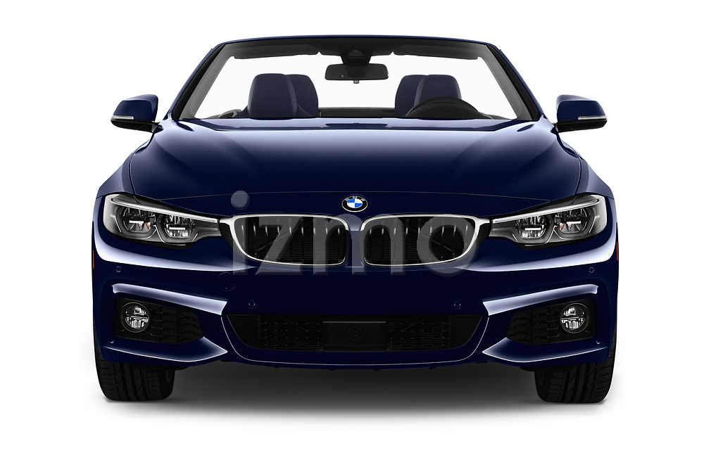Car photography straight front view of a 2018 BMW 4 Series 430i M Sport 2 Door Convertible