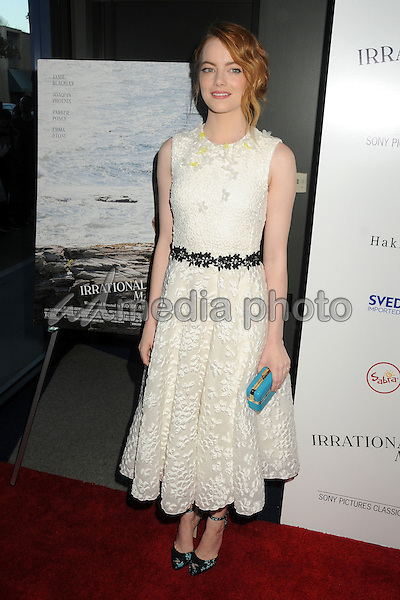"""9 July 2015 - Beverly Hills, California - Emma Stone. """"Irrational Man"""" Los Angeles Premiere held at the WGA Theatre. Photo Credit: Byron Purvis/AdMedia"""