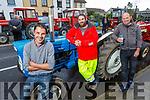 Dan Harmon (Spa), John Moriarty (Spa) and Pat Ryle (Ardfert)  enjoying the Ardfert Tractor Run fundraiser for the staff of UHK on Sunday.