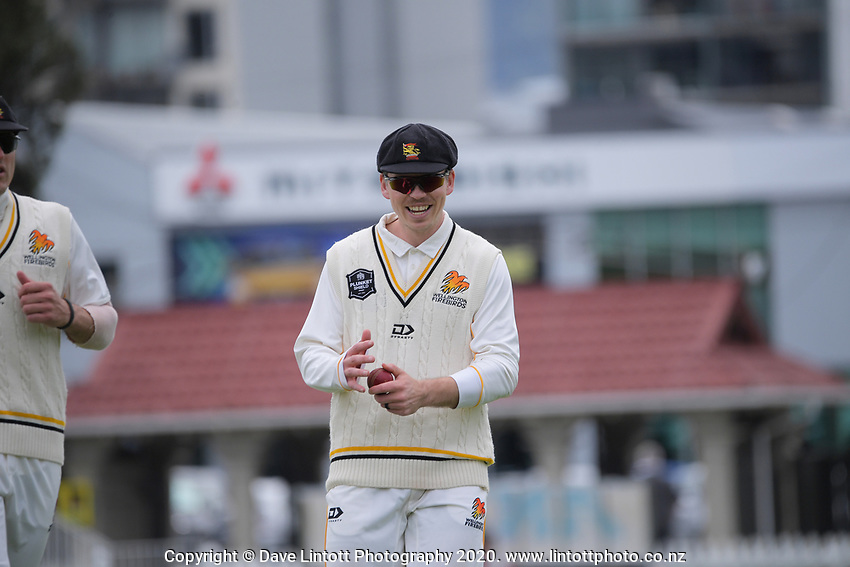 Firebirds captain Michael Bracewell during day one of the Plunket Shield match between the Wellington Firebirds and Otago at Basin Reserve in Wellington, New Zealand on Thursday, 5 November 2020. Photo: Dave Lintott / lintottphoto.co.nz