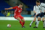 International Friendly match between Wales and Scotland at the new Cardiff City Stadium : Wales' Sam Vokes