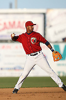 April 19 2009: Chris Jackson of the Lancaster JetHawks during game against the High Desert Mavericks at Clear Channel Stadium in Lancaster,CA.  Photo by Larry Goren/Four Seam Images