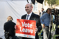 London, 24/06/2016. The United Kingdom decided to leave the European Union. The British people voted (Turnout 72.2%): 51,9% to leave the EU (17,410,742 Votes) versus 48,1% to remain in the EU (16,141,241 Votes).<br /> <br /> For the full caption please find the 2-page PDF attached at the beginning of this story.<br /> <br /> For more information abou the result please clich here: http://www.bbc.co.uk/news/politics/eu_referendum/results
